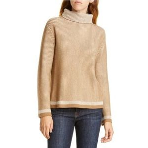 Nordstrom Signature L/S SLOUCHY NECK RIB PULLOVER